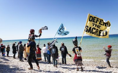 NHBP Tribal Members join hundreds in serving Enbridge an eviction notice